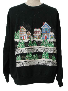 1980's Unisex Real Estate Agent Ugly Christmas Sweatshirt