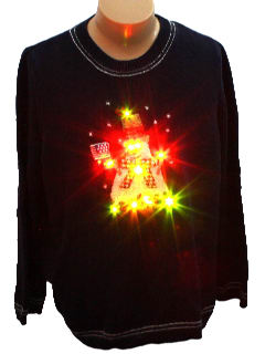 1980's Unisex Light up Patriotic Snowman Ugly Christmas Sweater