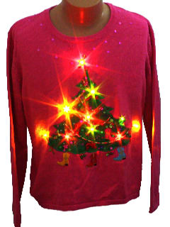 1990's Womens Light up Ugly Christmas Sweater