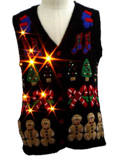 1980's Unisex/Childs Lightup Ugly Christmas Sweater Vest