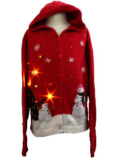 1980's Unisex/Childs Lightup Hoodie Ugly Christmas Sweater