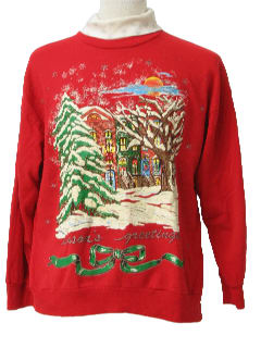 1980's Unisex Rreal Estate Agent Ugly Christmas Sweatshirt
