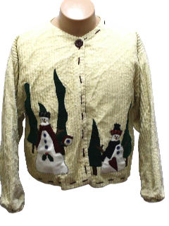 1980's Womens Ugly Christmas Sweater Jacket