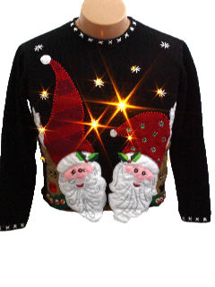 1980's Unisex/Childs Light up Ugly Christmas Sweater