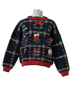 1980's Womens Totally 80s Ugly Christmas Sweater