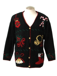 1980's Unisex Cardigan Ugly Christmas Sweater