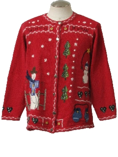 1980's Womens Western Ugly Christmas Sweater