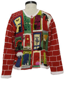 1980's Womens Ugly Christmas Sweater Perfect for a Real Estate Agent!