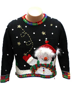 1990's Womens/Girls Ugly Christmas Sweater