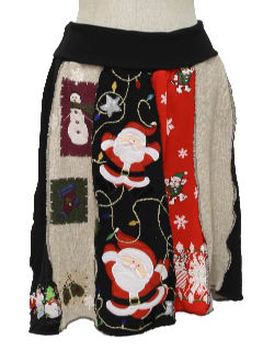 1980's Womens Ugly Christmas Sweater and Sweatshirt Skirt