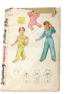 1950's Unisex/Childs Sewing Pattern