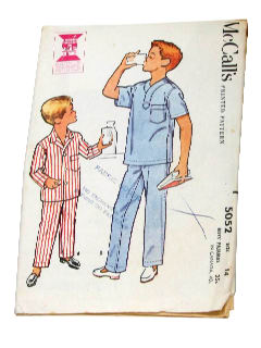1950's Mens/Childs Sewing Pattern