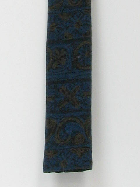 1960's Mens Skinny Flat Bottom Necktie