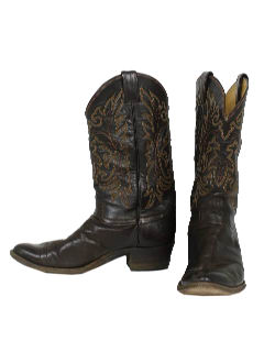 1980's Mens Accessories - Shoes Western Cowboy Boots