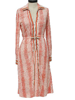 1970's Womens Designer House Dress