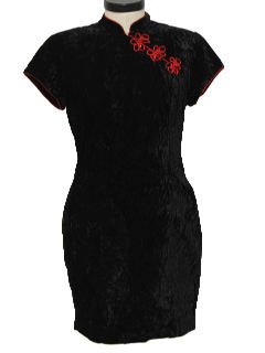 1990's Womens Wicked 90s Cheongsam Style Cocktail Dress