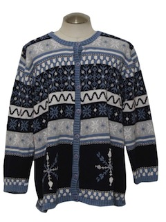 1990's Womens Snowflake Sweater