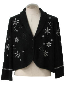 1990's Womens Bolero Style Ugly Christmas Sweater