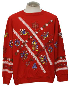 1980's Unisex Country Kistch Ugly Christmas Sweatshirt
