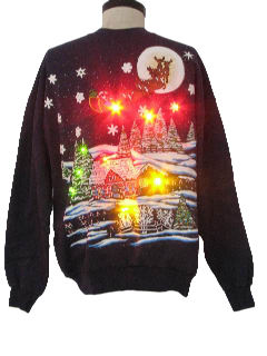 1990's Unisex Lightup Ugly Christmas Sweatshirt