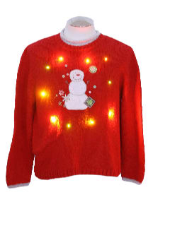 1990's Womens Lightup Ugly Christmas Sweater