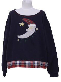 1990's Womens Ugly Christmas Sweatshirt