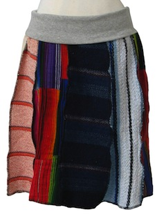 1980's Womens Hippie Baja Skirt