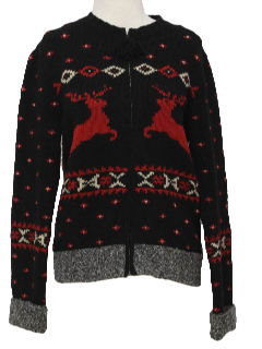 1990's Womens Wicked 90s Reindeer Ski Sweater