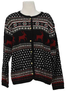 1990's Womens  Reindeer Snowflake Sweater