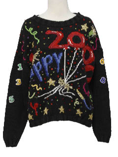 1990's Womens After Christmas Ugly New Years Sweater