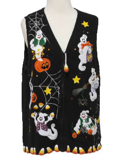 1990's Unisex  Ugly Halloween Sweater Vest