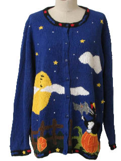 1990's Womens Kitschy Ugly Halloween Sweater