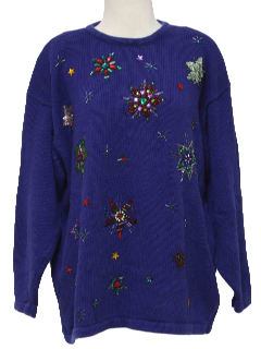 1990's Womens Kitschy Ugly Cocktail Sweater