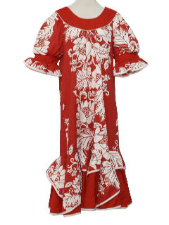1980's Womens Hawaiian Muu-Muu Dress