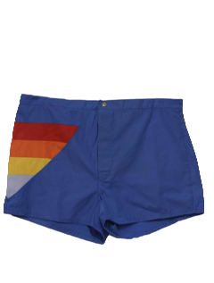 1980's Mens Totally 80s Rainbow Board Shorts