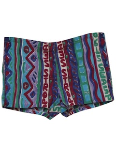 1990's Mens Wicked 90s Hawaiian Swim Shorts