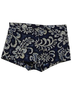 1960's Womens Mod Hawaiian Short Shorts
