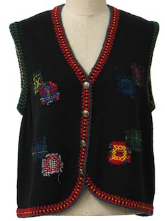1990's Womens Ugly Sweater Vest