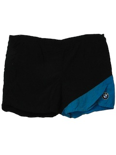 1980's Mens Totally 80s BMW Swim Shorts