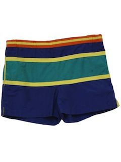 1980's Mens Totally 80s style Swim Shorts