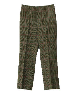 1970's Mens Mod Wool Slacks Pants