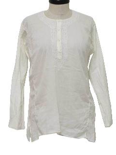 1990's Womens Kurta Style Hippie Shirt