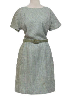 1950's Womens Wool Designer Fab Fifties Day Dress