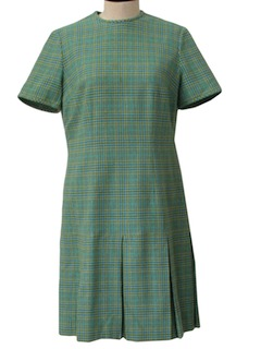 1960's Womens A-Line Wool Pendleton Mod Dress