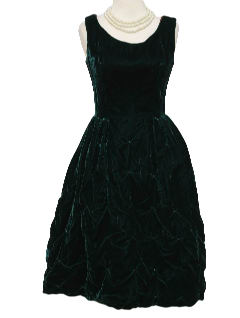 1950's Womens Fab Fifties Velvet Cocktail Dress