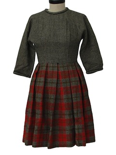 1950's Womens Fab Fifties Wool Dress