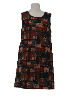 1960's Womens A-Line Mod Dress