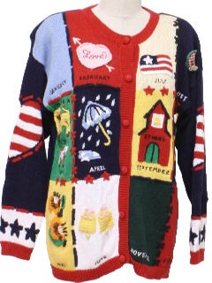 1990's Womens Cheesy Ugly Kitschy Sweater