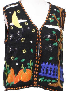 1990's Womens Ugly Halloween Sweater Vest