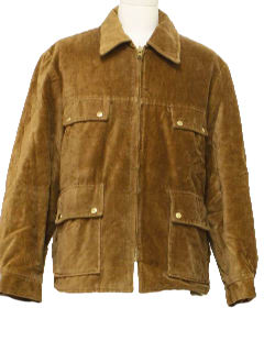1970's Mens Mod Corduroy Coat Jacket